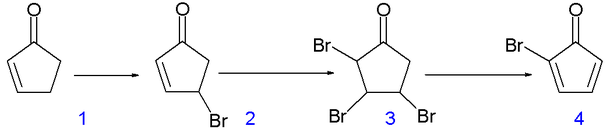 "syntehsis of cyclopentadienone The application of a series of (cyclopentadienone)iron tricarbonyl complexes to ""borrowing hydrogen"" reactions between amines and alcohols was completed in order."